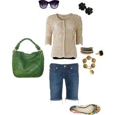 Casual, neutral with pops of color..., created by jennifer-kelley on Polyvore