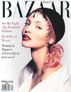 Nadja Auermann - Harper's Bazaar US April 1993 by Patrick Demarchelier
