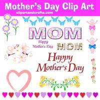 mothers day clip art collection  at clipartandcrafts.com