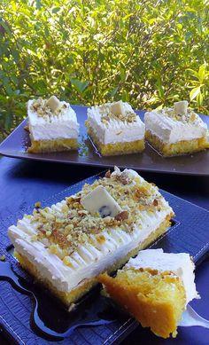 Το αφράτο και αέρινο Πολίτικο ραβανί !!! Υλικά 6 αυγά χωρισμένα, 2 φλ.τσαγιού ζάχαρη, 1 κουτάλια της σούπας βούτυρο, 4 κουταλιές ... Greek Sweets, Greek Desserts, Greek Recipes, Cookbook Recipes, Cake Recipes, Dessert Recipes, Cooking Recipes, Greek Pastries, Greek Cooking