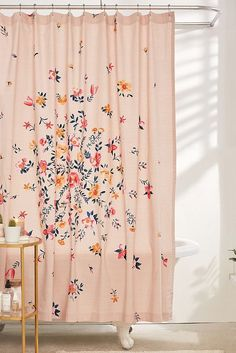 Bouquet Check Shower Curtain