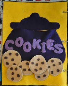 Cookie Jar Page (Make cookies with numbers and choc chips).