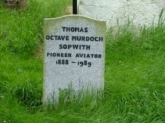 Thomas Sopwith (1888 - 1989) British aircraft designer, designed the Sopwith Camel used in World War I