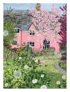 Lucy Grossmith: Spring cottage    This lady's art is so enchanting!