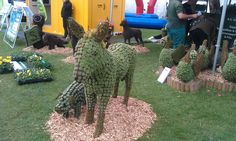 A donkey made of flowers at the Saltex exhibition. And why not?