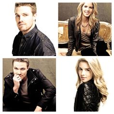 Emily Bett Rickards & Stephen Amell #Arrow