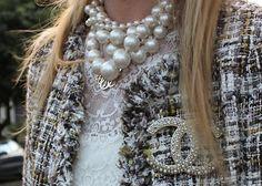 pearls, tweed, lace, rhinestones, monogram...just a few of my favorite things.