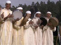 Africa: Berber drummers, Morocco