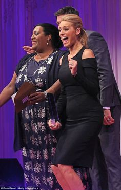 And the winner is! Alison Hammond also helped dish out some awards. Vernon, Lbd, Red Carpet, Awards, Dish, British, Sari, Husband, Glamour