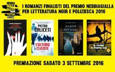 Premio NebbiaGialla per letteratura noir e poliziesca 2016: ecco i quattro finalisti!