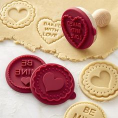 Williams Sonoma Valentine's Day Cookie Stamps, Set of 3 #williamssonoma