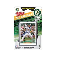 MLB Oakland Athletics 2011 Topps Team Sets by Topps. $7.54. This is the official 2011 Topps MLB Team set - the official card of Major League Baseball. This set will contain 17 cards, the card of each Ballpark is a bonus exclusive to the set. That's right, this set is the only place to get the card of your favorite ballpark.