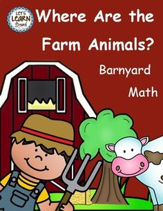 Farm Theme Math Worksheets for Your Farm Unit, makde with standards in mind! These fun farm themed worksheets are geared toward preschool, kindergarten and frist grade. Let's Learn S'more!