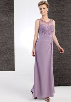 long mother bride dresses summer wedding | ... Bride Dresses: Purple Mother of the Bride Dresses for a Summer Wedding