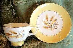 Century Service Autumn Gold Teacup Saucer Set by ElizabethsVintage