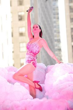 katy perry on a cotton candy cloud