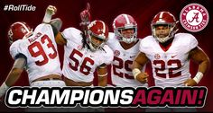 Alabama SEC Champions Again - Alabama dominates Florida 54 - 16