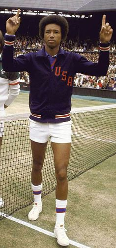 Arthur Robert Ashe, Jr. (July 10, 1943 – February 6, 1993) was a World No. 1 professional tennis player. He won three Grand Slam titles, ranking him among the best tennis players from the US. Ashe was the first black player ever selected to the United States Davis Cup team and the only black man ever to win the singles title at Wimbledon, the US Open, and the Australian Open. In 1975, he defeated Jimmy Connors for the Wimbledon title.