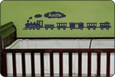 Personalized Choo Choo Train wall decal for baby by WallCrafters