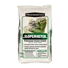Slopemaster is a seed mixture specifically designed for erosion control where rapid establishment is a necessity with little follow up maintenance.