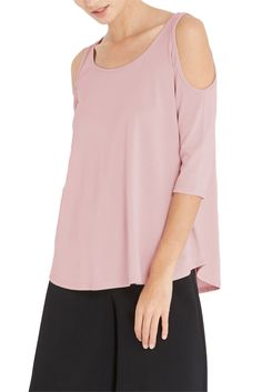 Blush Cold Shoulder Top