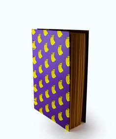 Banana Pattern Handbound Book by Little Green Trunk | Coptic Stitch | Exposed Binding | Writing / Sketching Journal
