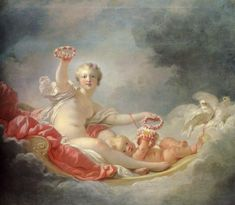 Page: Venus and Cupid (The Day)  Artist: Jean-Honore Fragonard  Style: Rococo  Genre: mythological painting