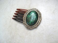 Aria Vintage Comb Green by SavannahChristiana on Etsy, $8.00