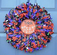 Eek Halloween Fabric Wreath