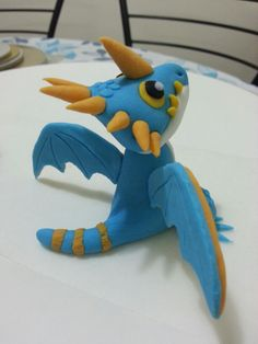 Stormfly fondant from How To Train Your Dragon