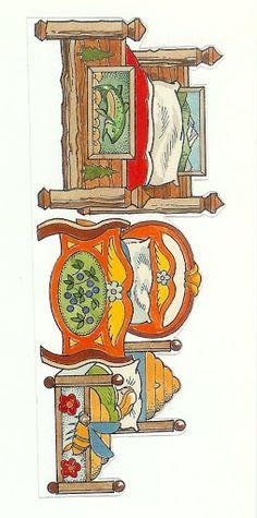 Three Bears and Little Red Riding Hood theater set Paper Doll House, Paper Houses, Paper Art, Paper Crafts, Goldilocks And The Three Bears, Toy Theatre, Bear Theme, Bear Party, Vintage Paper Dolls