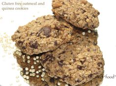 Gluten Free Oatmeal and Quinoa Cookies Recipe Oatmeal No Bake Cookies, Quinoa Cookies, Yummy Cookies, Cookie Recipes, Snack Recipes, Dessert Recipes, Healthy Recipes, Free Recipes, Yummy Things To Bake