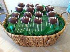 Sport Cake Pops (Football). $30.00, via Etsy.