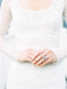 Sweet long-sleeved dress: http://www.stylemepretty.com/2015/06/02/elegant-park-city-wedding/ | Photography: D'Arcy Benincosa - http://www.benincosaweddings.com/