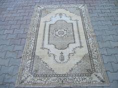 Oushak Rug 3.11x6.7 Feet 202x121 Cm Turkish Carpet Rug, Gray Carpet, Turkish Green Rug, Carpet Rug, Vintage Rug, Anatolian Rug, Turkis Rug by Ebrarshops on Etsy