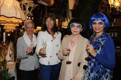 Marion Dimali, Claudia Kristofics-Binder, Elfriede Kreuzberger und Dominoblue © Marchfelderhof, Rudi Meidl