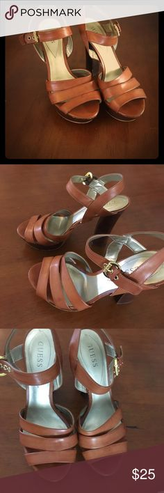 Guess heels Guess heels size 8 1/2 really cute they go with everything Guess Shoes Heels