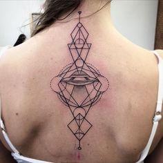 UFO and geometry by @diffuzer #tattoo #tattooart #art #lines #linework #back #black #dotwork #ufo #ufotattoo #geometry #graphic #insta_black #siberia #russia #instagood #sticksandbonestomsk
