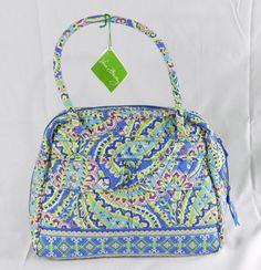New Vera Bradley Bowler Handbag Capri Blue NWT Retired  VeraBradley   Satchel Capri Blue 11f518093ea1a