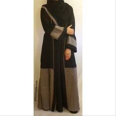 The Athena Stone Abaya from AbayaTopia Black Abaya, Hijab Fashionista, Party Suits, Abaya Fashion, Abayas, Niqab, Hijab Outfit, Designer Wear, Alexander Mcqueen Scarf