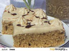 Mocca řezy recept - TopRecepty.cz Mocca, Peta, Vanilla Cake, Food And Drink, Baking, Bakken, Bread, Backen, Map