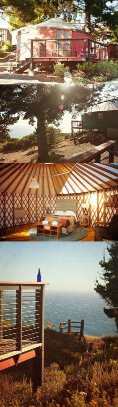 Yurt in Big Sur; Treebones Resort, Big Sur, California