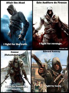 Top 20 Assassin's Creed Memes Assassins Creed Quotes, Assassins Creed Odyssey, Assasians Creed, Assassin's Creed Hidden Blade, Assassin's Creed Wallpaper, Graphic Novel, Edwards Kenway, Gamer Humor, Game Art