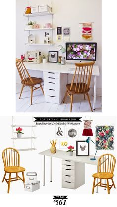 A great crafty office space or craft studio for only $561 by @lindseyboyer for Copy Cat Chic