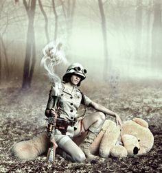 """""""If you go down to the woods today."""" Teddy Bear Hunting by *okissop on deviantART Steampunk Costume, Steampunk Fashion, Foto Montages, Cool Pictures, Cool Photos, Bear Hunting, Cute Poses, Victorian Gothic, Big Game"""
