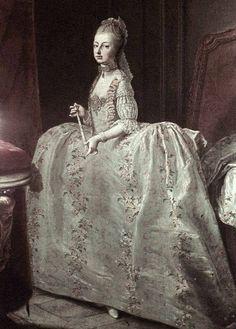 Maria Antonietta a 14 anni. Ritratto eseguito prima della sua partenza per la Francia. by Martin van Meytens.