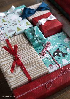Polar Printable Christmas Gift Wrap