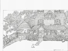 House Coloring Pages for Adults Elegant Adult Coloring Page House Cats Instant Dolphin Coloring Pages, Adult Coloring Pages, Coloring Sheets, Coloring Books, House Colouring Pages, Cat Coloring Page, Colorful Pictures, Cute Pictures, Art Aquarelle