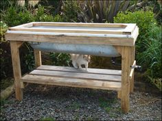 This is the frame I want for my bathtub gardens.  Not as high for the gardens, and one high like this for the worm farm.