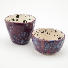 Mini Bowl   Raspberry and Ink Blots   goodly GOLD